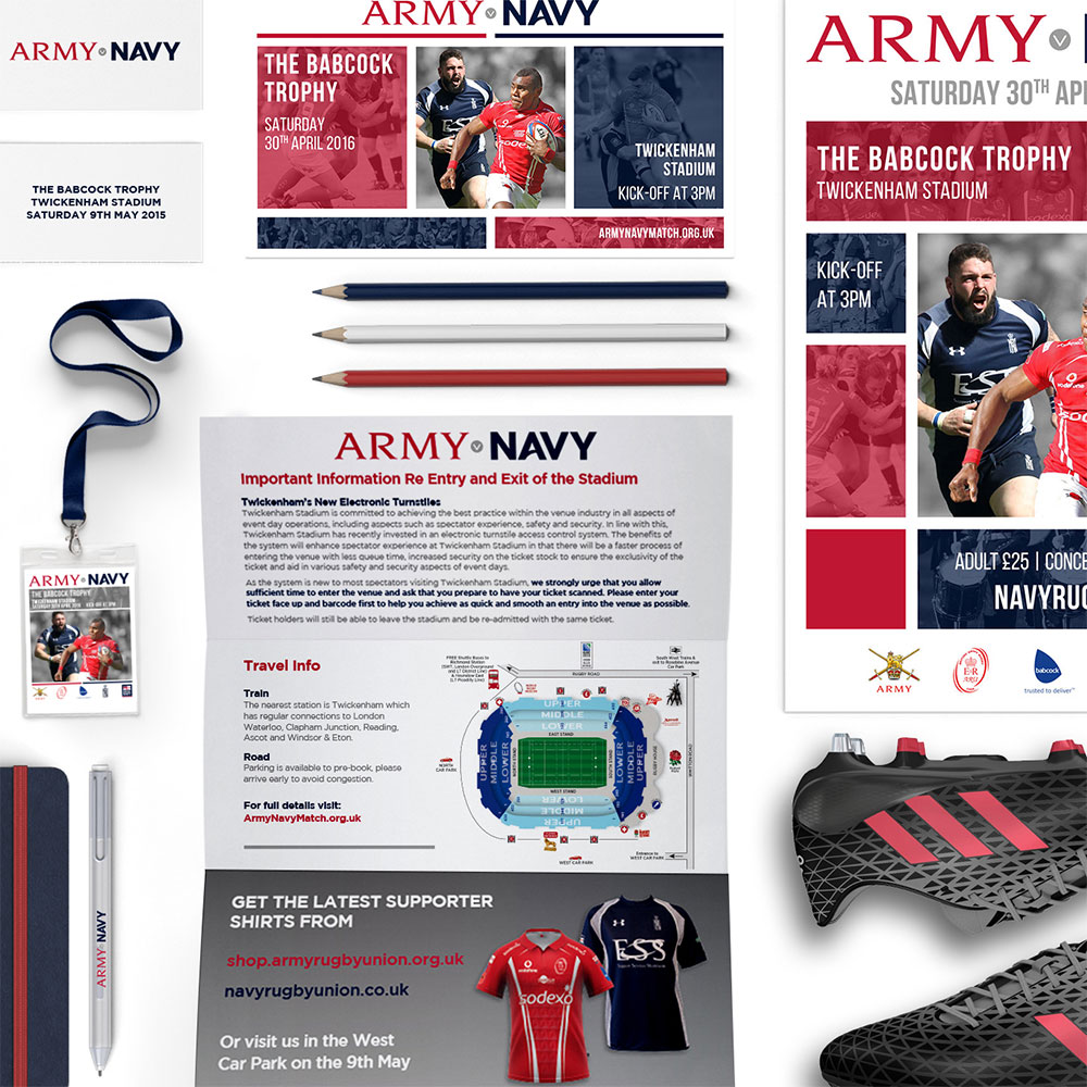 Army Navy Match branding