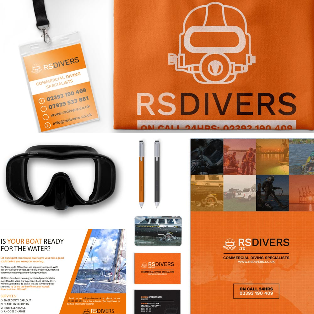 RS Divers branding